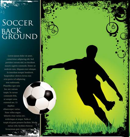 Soccer grunge background  Vector