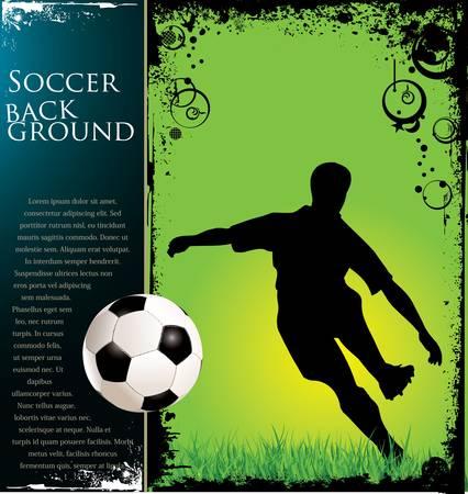 soccer fields: Soccer grunge background