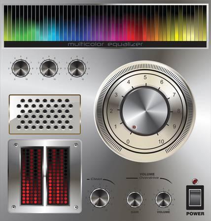 volume knob: volume knob with digital colorful equalizer