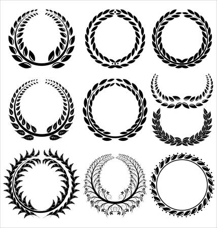 laurel leaf: Laurel Wreath set  Illustration