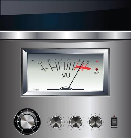 input device: VU Meter silver background Illustration