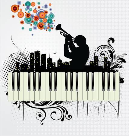 tenore: Grunge musica di sottofondo Vettoriali