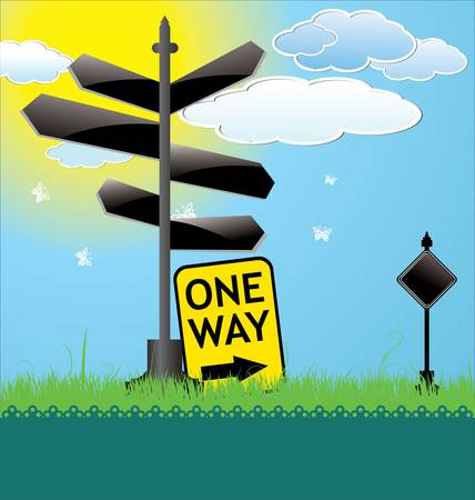 Blank Directional Sign Vector