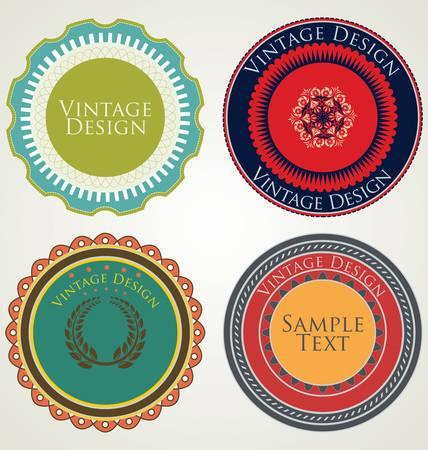 Vintage pegatinas y etiquetas
