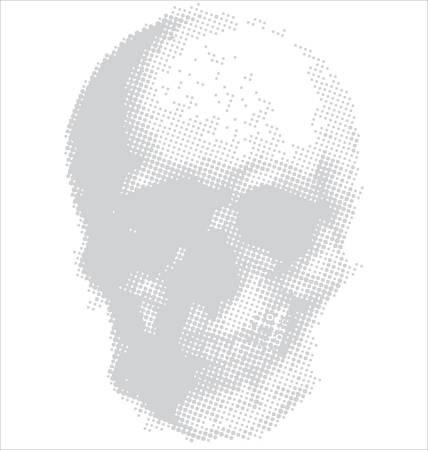 Halftone Skull Illustration