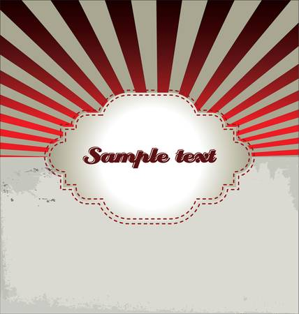 copyspace: Abstract retro background