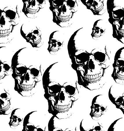Skull seamless background Vector