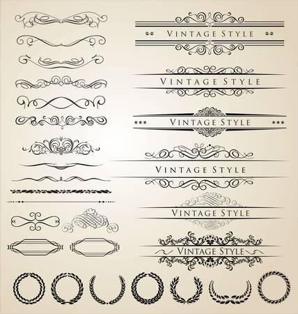 calligraphique: Bordure d�corative et ensemble cadre