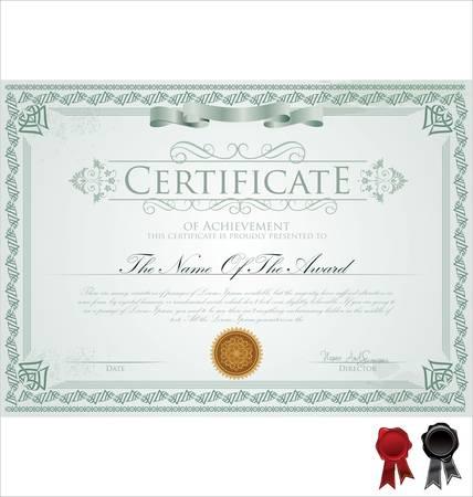Vector illustration d'un certificat détaillé Banque d'images - 14327923