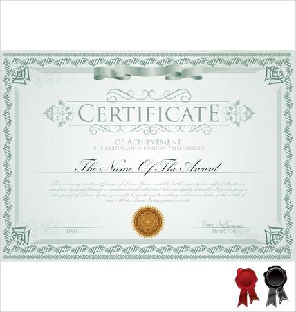 Vector illustration of detailed certificate Vector