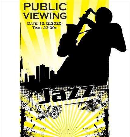 saxophonist: Jazz poster