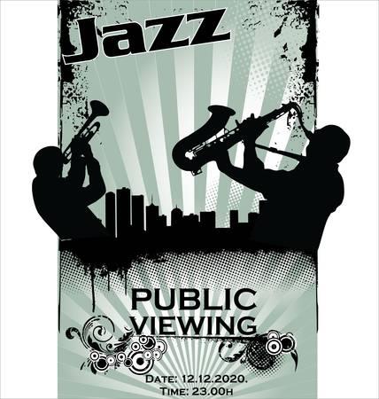 saxophone: Siluetas de m�sico de jazz