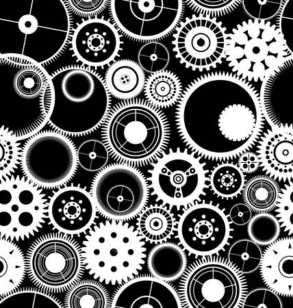 machinery space: Gear seamless background