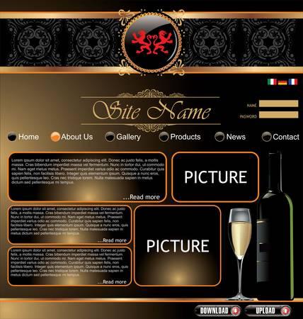 web site design template: Elegant website template