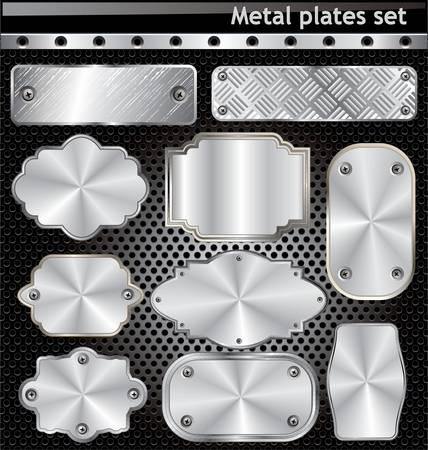 metal plaque: Metal plates set