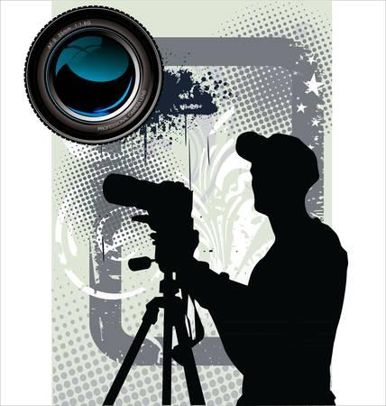 trees photography: Photographer background Illustration