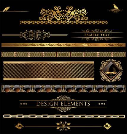 Concevoir des éléments d'or Banque d'images - 14445319