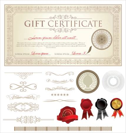 Gift Certificate and Ornaments