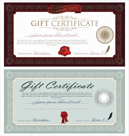 Gift Certificate and Ornaments  Vector