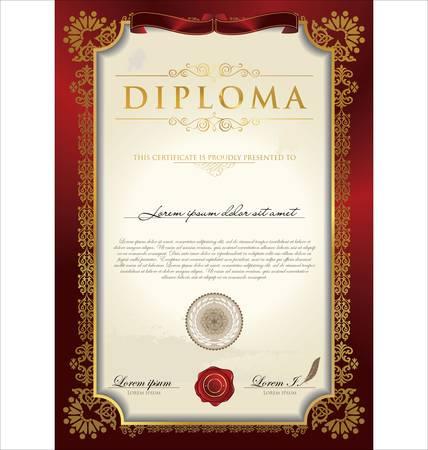 certificat diplome: Certificat ou dipl�me Mod�le