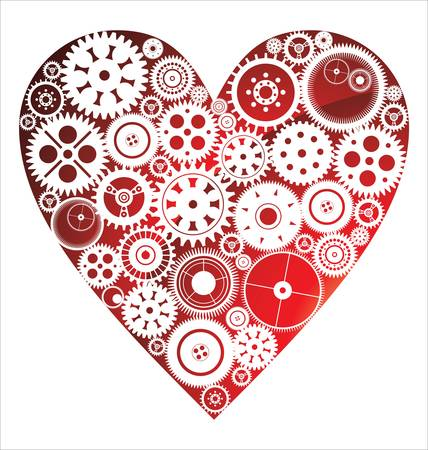 Love Heart Background Stock Vector - 14497313