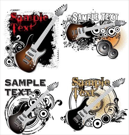 discoball: Grunge music banner set