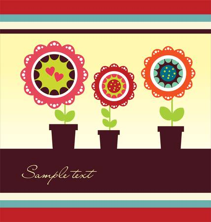 Cute frame design Vector