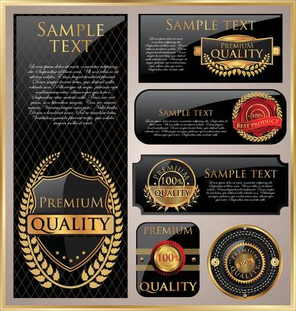 premium quality: Premium quality labels Illustration