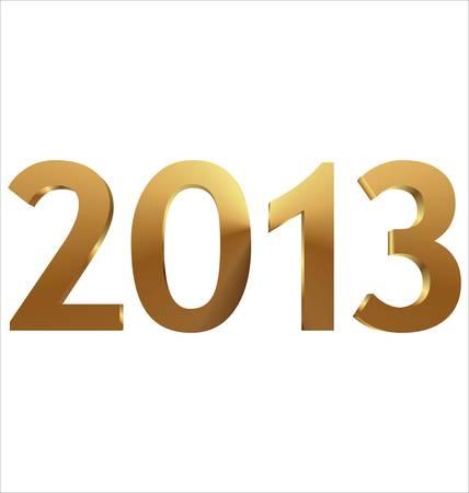 2013 3d gold illustration Stock Vector - 14647364