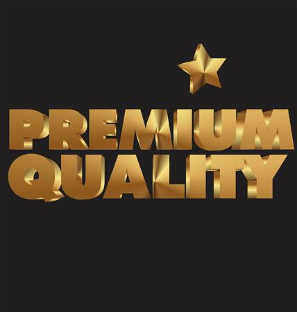 assured: Premium quality 3d golden text