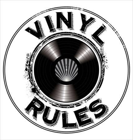 scheibe: Vinyl Regeln Hintergrund Illustration