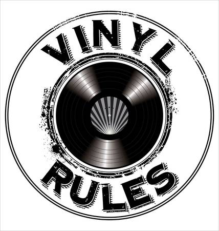 disc: Vinyl rules background Illustration