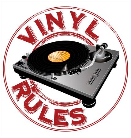 turntables: Vinyl rules background Illustration