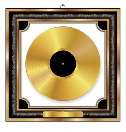 Gold Vinyl Disc Award Stock Vector - 14647371