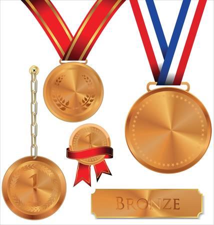 bronze medal: Illustration Of bronze Medal