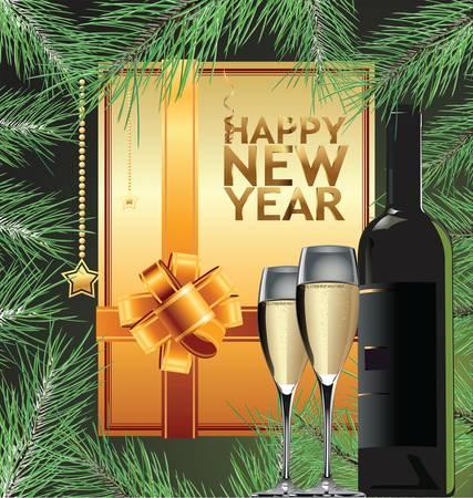 Frohes Neues Jahr eleganten Hintergrund Vektor-Illustration