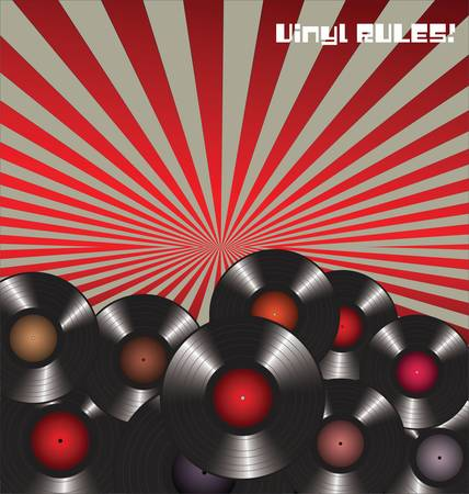 VinylRegels Retro Achtergrond
