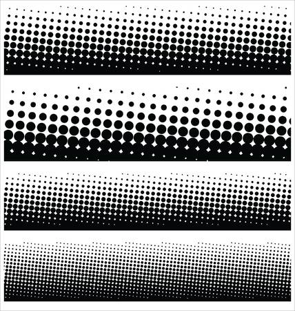 halftone dots: halftone elements for your design