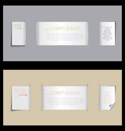 Paper bookmarks with place for text Vector