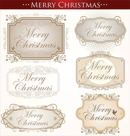 Vintage Christmas Card. Merry Christmas Vector