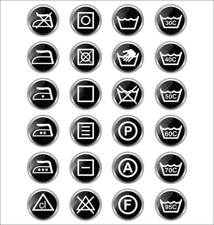 textile care: signos de lavado