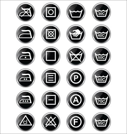 laundry care symbol: washing signs