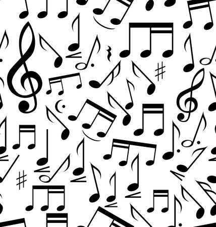 nota musical: Notas Musicales - sin costura Vectores