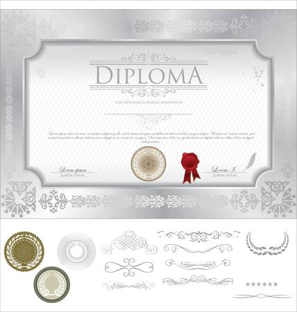 Diploma template Stock Vector - 14850595