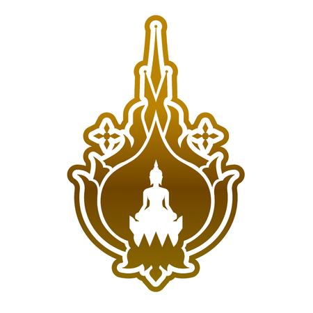Buddha vector. Stock Vector - 116059486