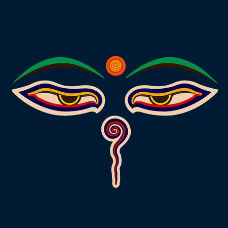 Buddha eyes vector illustration.