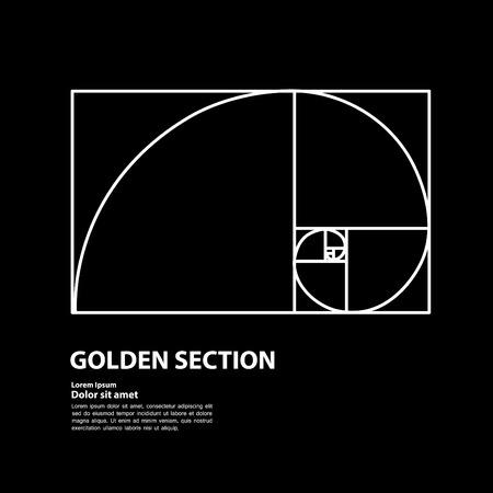Golden ratio for creative design section vector illustration.