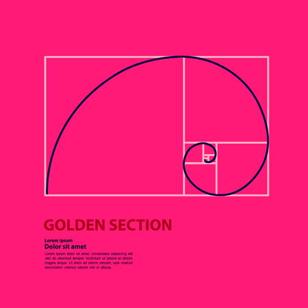 Golden ratio for creative design section vector illustration. Illustration