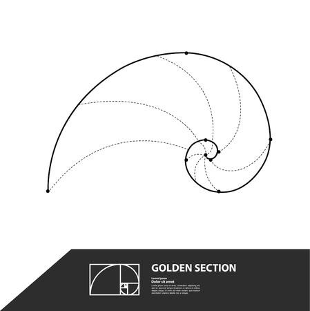 Golden ratio for creative design section vector illustration. Ilustração