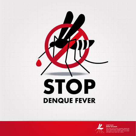 Stop denque fever and stop mosquito vector illustration.